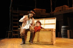 Michael Uribes and Tyler Ledon in The Robber Bridegroom at ICT