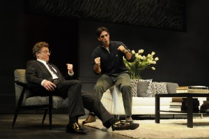 David Nevell and Greg Derelian (right) are two of the four stars in God of Carnage at ICT.