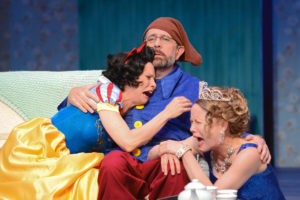 Leslie Stevens, Stephen Rockwell and Jennifer Parsons in Vanya and Sonia and Masha and Spike
