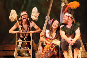 Nick Ley, Laurine Price and Jud Williford in SHIPWRECKED!